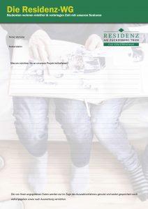 Die Residnez-WG: Download Fragebogen/Bewerbung